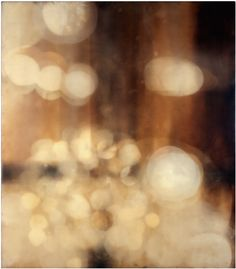 Eric Blum  Nº475  2004, ink, beeswax  & silk on panel  42X37in/107X94cm