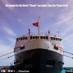 #MovieFanatic #Movie #Cinema #Titanic #Film #Plumaa #WhatsYourPassion  SOURCE: http://www.factslides.com/s-Movies