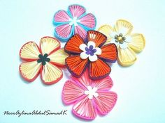 Quilling fan flower tutorial