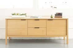 """ALICE TACHENY, USA    """"We are committed to the creation of furniture pieces that are a new kind of heirloom: lasting, authentic, graceful, and modern"""". #furniture #wood #modern #credenza"""