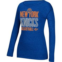 adidas Women's New York Knicks Royal Long Sleeve Shirt, Size: Large, Team