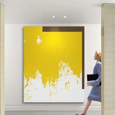 抽象巨幅样板房高档简约现代装饰画走廊家居大幅大尺寸办公无框画-淘宝网