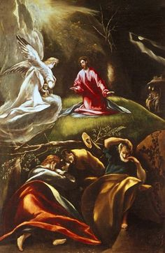 Christ's Agony in the Garden by El Greco Backyard Garden Landscape, Garden Landscape Design, Garden Art, Catholic Art, Religious Art, Agony In The Garden, Back Garden Design, Fine Art Prints, Decking