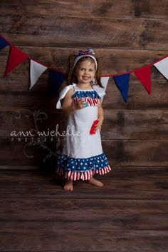 Little Girls Boutique Handmade Red, White and Blue Stars and Stripes Pillowcase Dress Baby Girls 4th of July Patriotic Pillow Case Dress by BabyGirlTutus on Etsy
