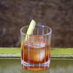 Absalom's Retreat 1 ounce of yellow Chartreuse 1 ounce of Irish whiskey (Powers Irish whiskey few drops of the Old Fashioned bitters ¼ ounce of honey syrup garnish with a thick lemon peel