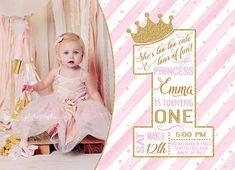 Una invitación de cumpleaños de princesa / invitación de