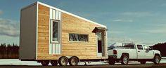 Wonen in een blokhut caravan