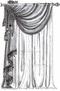 Luxury Curtains, Elegant Curtains, Home Curtains, Curtains Living, Modern Curtains, Window Curtains, Curtain Styles, Curtain Designs, Window Coverings