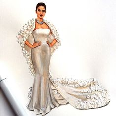 Inspired by gorgeous @sonamkapoor wearing @ralphandrusso gown ♥️♥️♥️ #redcarpet #cannes2016 #cannes #vogue #hautecouture #fashionillustration #fashionsketch #fashionlook #copicmarkers #bridalillustration #bridaldress #weddinginspo #fashionfriday #india #indianfashion #indiangirl #sonamkapoor #ralphandrusso #lookillustrated @couturebusiness