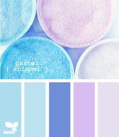 resplandor en colores pastel