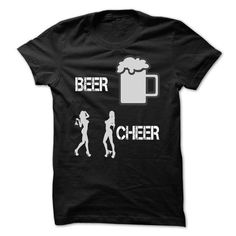Beer and Cheer - #cute gift #student gift. LOWEST PRICE => https://www.sunfrog.com/Drinking/Beer-and-Cheer.html?68278