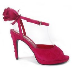 """Yves Saint Laurent """"Sublime"""" Red Suede Rose Sandals The leather-based boots, slingbacks, and other items include quality soft leather and are made based on the requirements of each woman. Ysl Sandals, Shoes Heels Wedges, Yves Saint Laurent, Fashion Shoes, Fashion Accessories, Cinderella Shoes, Herve Leger Dress, Sandals For Sale, Me Too Shoes"""