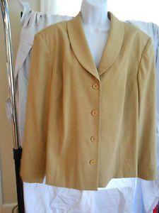 womans dress jacket sz 24w beige office work spiegel
