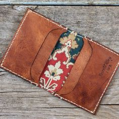 barrettalley:  A limited edition of two Destiny Wallets - bark tanned deerskin, antique French #kilim textile. Available at barrettalley.com.