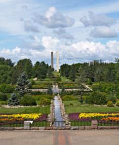 International Peace Garden. Half in ND and half in Canada.