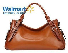 Kattee Genuine Leather Hobo Shoulder Bag Brown
