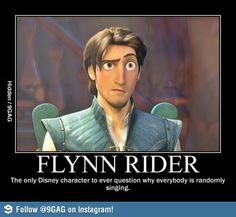 Flynn Rider is the cleverest Disney character.