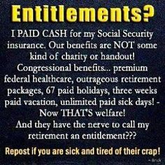 They're not coming for your guns, they're coming for your social security. Thanks