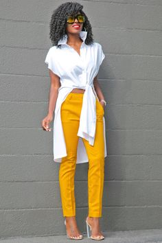 Tie Front Cotton Shirt + Ankle Length Trousers | Style Pantry | Bloglovin'