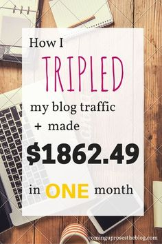 Income Report September - how I tripled my blog traffic and made $1862.49 in one month