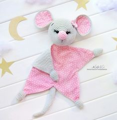 Easy Crochet Patterns, Amigurumi, Baby lovey toys by AVokhminaPatterns Crochet Bear Patterns, Crochet Lovey, Crochet Teddy, Crochet Patterns Amigurumi, Baby Blanket Crochet, Baby Patterns, Crochet Toys, Baby Security Blanket, Baby Lovey