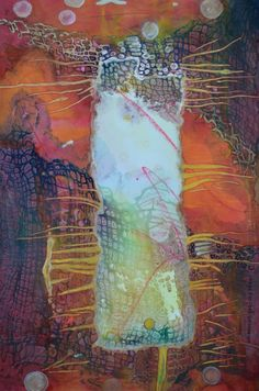 "Lynda Hoffman-Snodgrass - ""Beyond The Veil"" watermedia 12 x 14"""