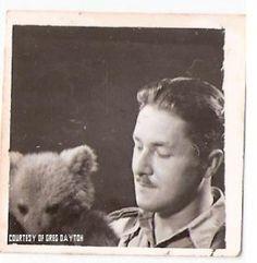 Wojtek The Soldier Bear - In the Ranks of Victors - Lt. Krol and Young Wojtek Wojtek Bear, Soldiers, Wwii, Bears, Polish, Animals, Collection, Angels, Poland