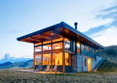 Passive solar Nahahum Cabin overlooks dramatic canyon views in the Cascade Mountains | Inhabitat - Sustainable Design Innovation, Eco Architecture, Green Building