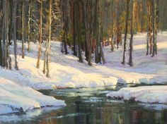 The Merced in WInter Pastel on On Archival Paper 18 x 24