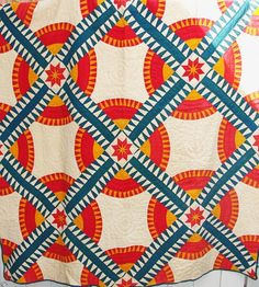 Antique New York Beauty Hand Stitched Quilt Soft Thin Great Colors Old Quilts, Antique Quilts, Vintage Quilts, Amish Quilts, New York Beauty, Straight Line Quilting, Red And White Quilts, American Quilt, Quilt Modernen