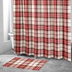 Avanti Hunter Plaid Shower Curtain, Multicolor