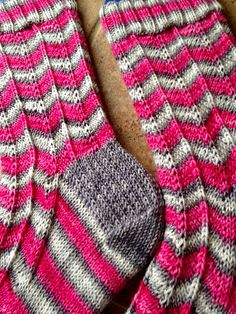 Ravelry: KnittinCarri's Chevron Socks