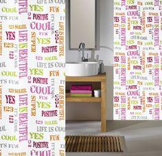 Zasłona Script Multicolor 180x200