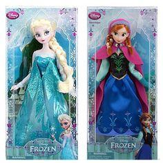 "Disney Store FROZEN 12""  ELSA & ANNA Classic Collection Fashion 2 Doll Set #DisneyStore #Dolls"