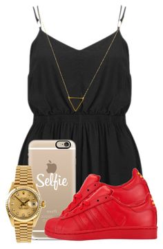 """""""."""" by ray-royals on Polyvore featuring MINKPINK, Casetify, Rolex, adidas and Wanderlust + Co"""