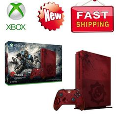 Microsoft Xbox One S 2TB Console -Gears of War 4 Limited Edition Bundle Red# From $35 for 12 months*