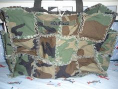 The other side of Brian's rag quilt diaper bag