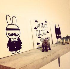 My boys room. Droom grote dromen, Batman & dino's. Jongenskamer