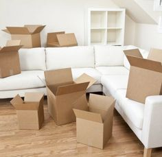 Room Of Cardboard Boxes for Moving House. Empty room full of cardboard boxes for , Cardboard Boxes For Moving, Moving Boxes, First Apartment, Apartment Living, Apartment Guide, Studio Apartment, Living Room, Apartment Ideas, House Removals