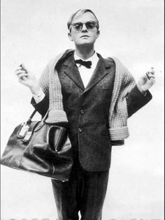 Truman Capote by Richard Avedon ~ More of a socialite than most socialites! A consummate curiosity driven writer... fabulous at relaying a twisted plot a tad manipulative... he could pen; however!