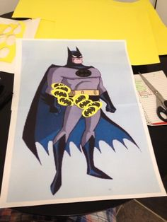 Superhero take of pin the tail on the donkey... Perfect batman party game
