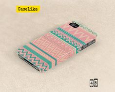 3D #iPhone 5 #Case  Pastel Turquoise And Pink #Aztec by #caselike, $22.00
