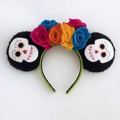 Coco Movie Mickey Minnie Ears Sugar Skull Day of the Dead Dio de los Muertos