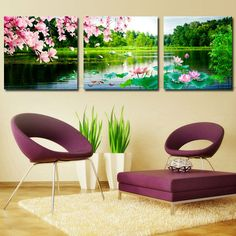 2016 Paintings Hd Print Canvas Lake flower Wall Art Pictures Modular Painting Cuadros Decoracion Modern Oil Picture No Frame-in Painting & Calligraphy from Home & Garden on Aliexpress.com   Alibaba Group