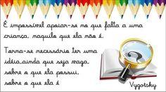 mensagem pedagogica reflexão - Pesquisa Google
