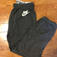 Nike dupe sweatpants •In great condition! •Only worn once! •Smoke free home:) •not authentic Nike! •Bundle & save Nike Pants Track Pants & Joggers