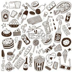 fast food - doodles