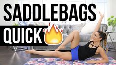 Quick Burn SADDLEBAGS Slimdown! Best Outer Thigh Workout! - YouTube