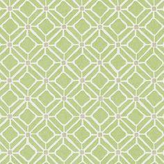 Apple Green / Taupe - 213721 - Fretwork - Chika - Sanderson Wallpaper