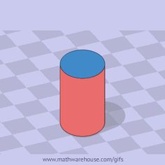 surface area of cyclinder animation